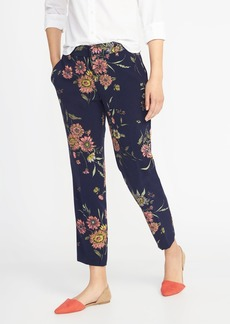 Mid-Rise Floral Harper Ankle Pants for Women
