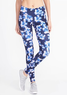 Old Navy Mid-Rise Floral-Print Compression Leggings for Women
