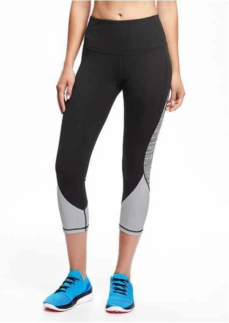 ff7147be16 Old Navy Go-Dry Cool High-Rise Compression Crops for Women ...