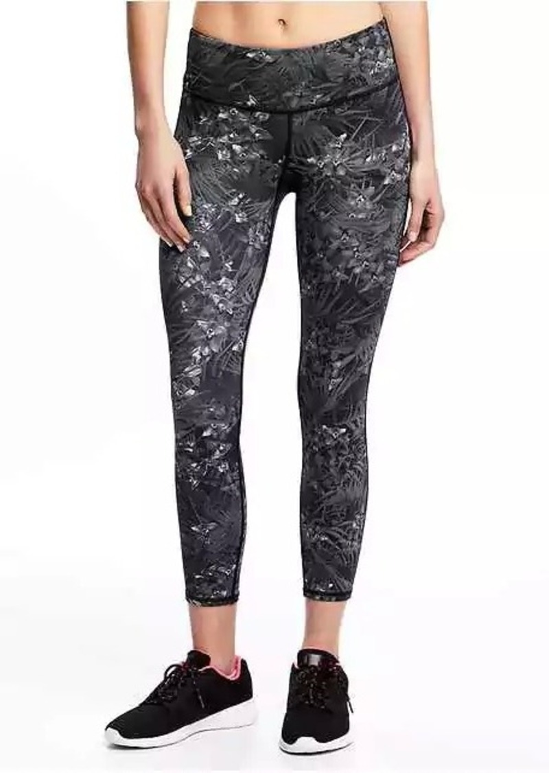 7c72b66a807158 Old Navy Mid-Rise Compression Run Crops for Women | Athletic Pants