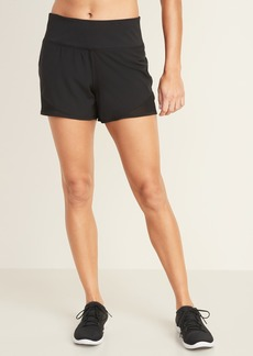 Old Navy Mid-Rise Jersey-Waist Run Shorts for Women -- 4-inch inseam