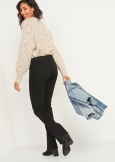 Old Navy Mid-Rise Kicker Boot-Cut Black Jeans for Women