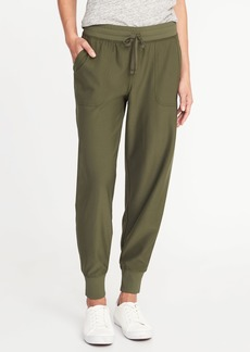 Old Navy Mid-Rise Knit-Waist Performance Joggers for Women