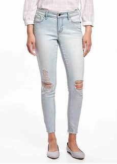 Mid-Rise Light-Wash Rockstar Ankle Jeans for Women