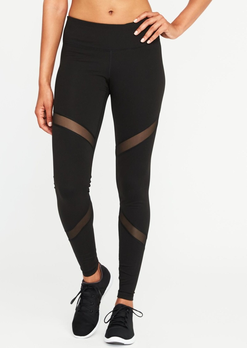df6d84c5054ca Old Navy Mid-Rise Mesh-Panel Elevate Compression Leggings for Women ...