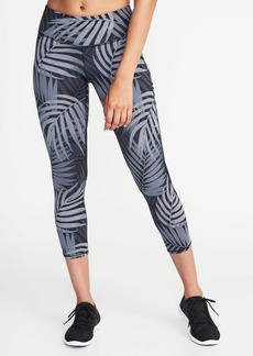 Old Navy Mid-Rise Mesh-Panel Run Crops for Women