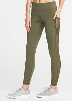 Old Navy Mid-Rise Mesh-Pocket Compression Leggings for Women