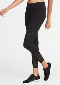 Old Navy Mid-Rise Mesh-Trim 7/8-Length Leggings for Women