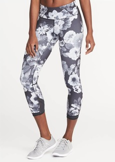 Old Navy Mid-Rise Mesh-Trim Compression Crops for Women