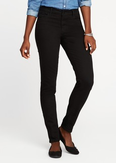 Mid-Rise Never-Fade Rockstar Black Jeans for Women