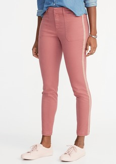 Old Navy Mid-Rise Pixie Chino Side-Stripe Utility Ankle Pants for Women