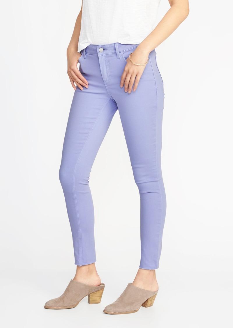 af00effad3 Old Navy Mid-Rise Pop-Color Rockstar Raw-Edge Super Skinny Ankle Jeans for  Women