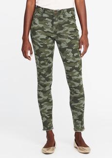Mid-Rise Raw-Edge Camo-Print Rockstar Jeans for Women