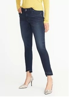 Mid-Rise Raw-Edge Rockstar Jeans for Women