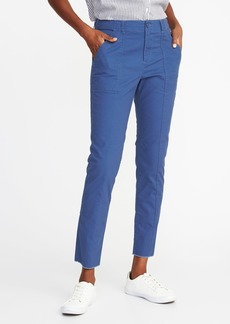 Old Navy Mid-Rise Raw-Edge Utility Chinos for Women