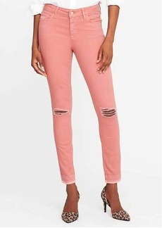 Mid-Rise Rockstar Distressed Super Skinny Ankle Jeans for Women