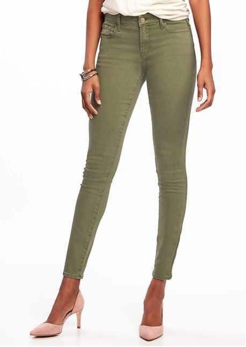 Colored skinny jeans at old navy