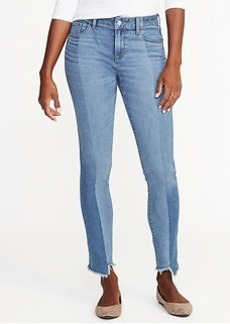 Mid-Rise Rockstar Raw-Edge Jeans for Women