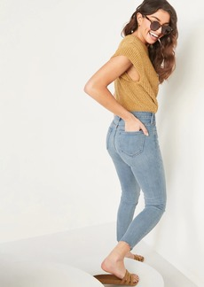 Old Navy Mid-Rise Rockstar Super Skinny Cut-Off Ankle Jeans for Women