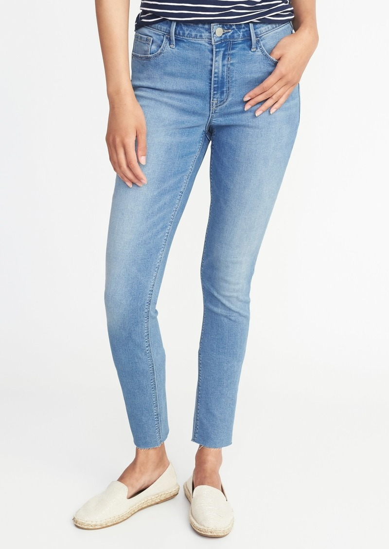 3a59b260498 Old Navy Mid-Rise Rockstar Super Skinny Raw-Edge Ankle Jeans for Women
