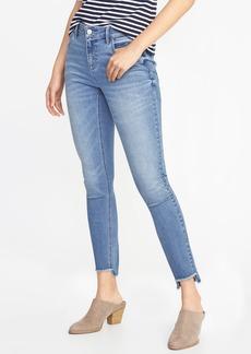 Mid-Rise Rockstar Super Skinny Step-Hem Jeans