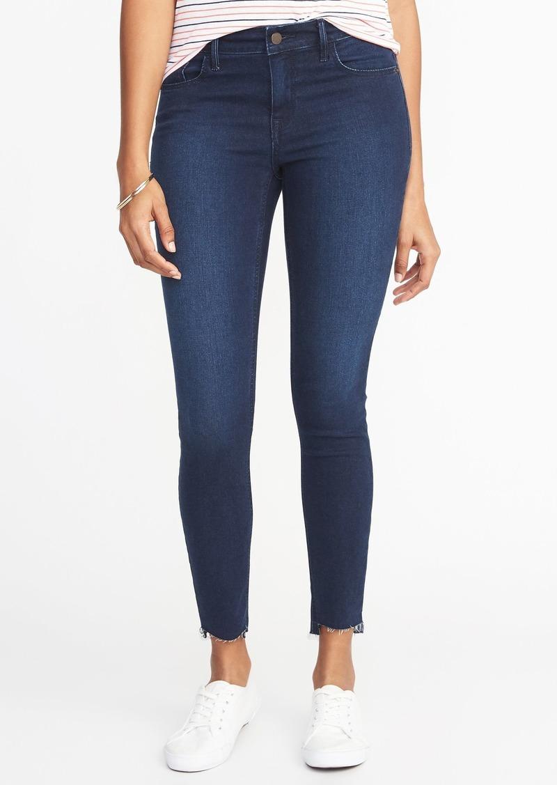 ada0e7e371e Old Navy Mid-Rise Rockstar Super Skinny Step-Hem Jeans for Women | Denim