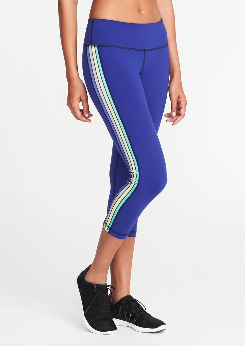 f03cd0d9f0de66 Old Navy Mid-Rise Side-Stripe Compression Crops for Women | Athletic ...
