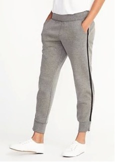 Old Navy Mid-Rise Slim Heathered-Stripe Track Pants for Women