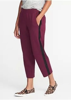 Old Navy Mid-Rise Slim Ponte-Knit Track Pants for Women