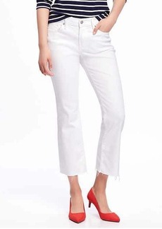 Old Navy Mid-Rise Stay-White Flare Ankle Jeans for Women