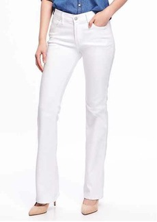 Mid-Rise Stay-White Micro-Flare Jeans for Women