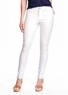 Mid-Rise Stay White Rockstar Skinny Jeans for Women