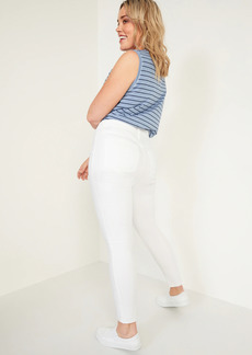 Old Navy Mid-Rise Super Skinny White Jeans for Women