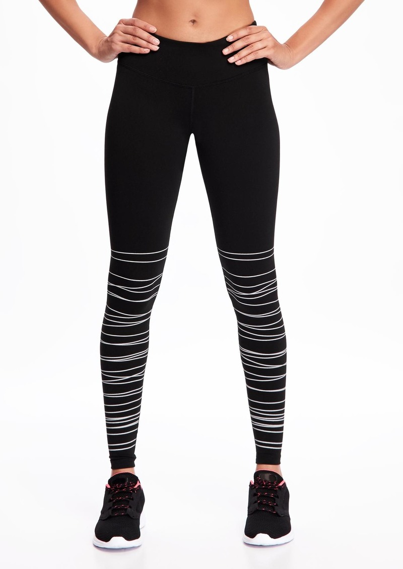 fab7722caf58a Old Navy Mid-Rise Textured-Print Compression Leggings for Women ...