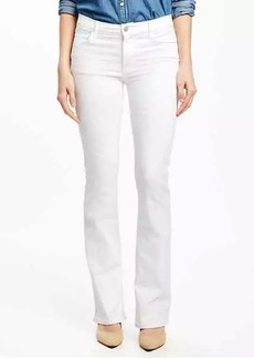 Mid-Rise White Micro-Flare Jeans for Women