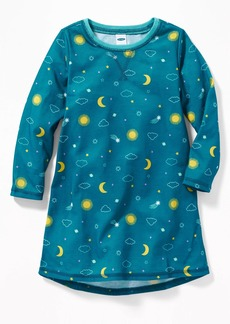 Old Navy Moon-Print Sleep Dress For Toddler Girls
