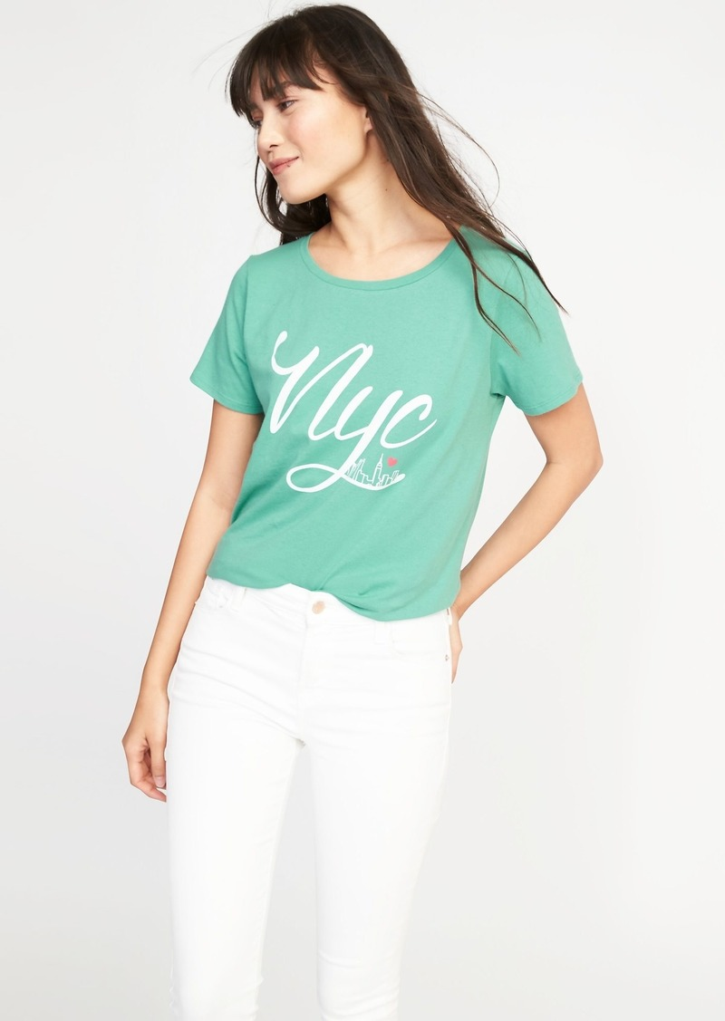 167521faf8ac2 Old Navy New York Graphic Tee for Women | Tees