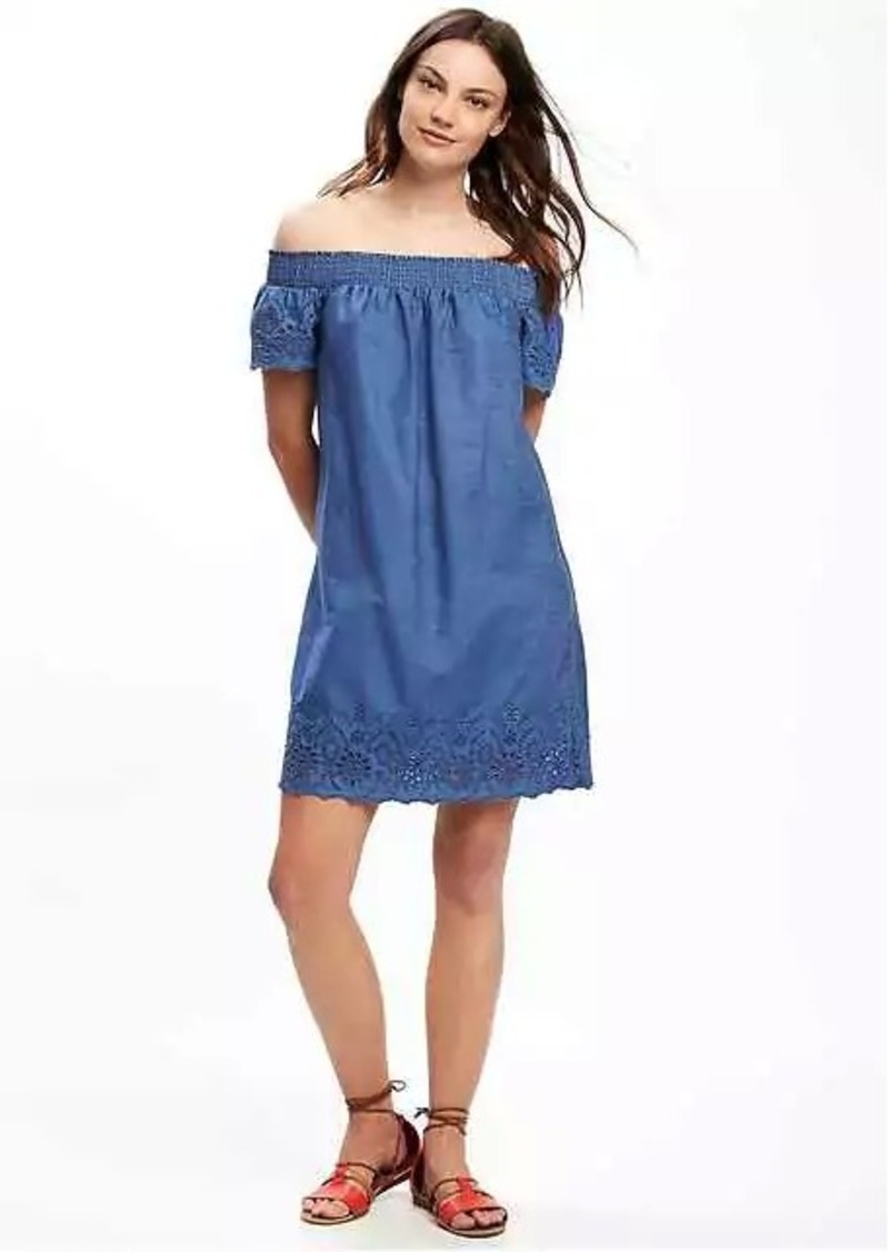 7329fde7a8f Old Navy Off-the-Shoulder Chambray Shift Dress for Women