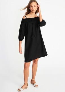 Off-the-Shoulder Shift Dress for Women