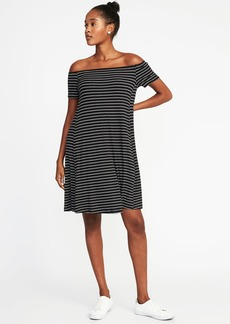 Off-the-Shoulder Swing Dress for Women