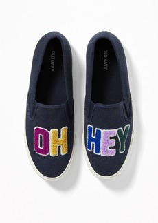 "Old Navy ""Oh Hey"" Graphic Slip-Ons for Women"