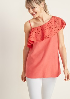 Old Navy One-Shoulder Ruffle-Trim Top for Women