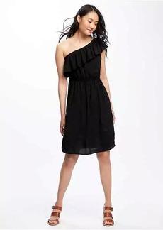One-Shoulder Swing Dress for Women