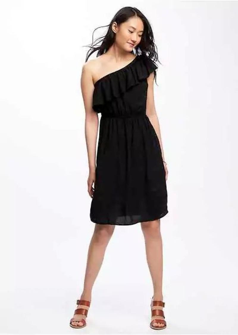 41da4268000f9 Old Navy One-Shoulder Swing Dress for Women