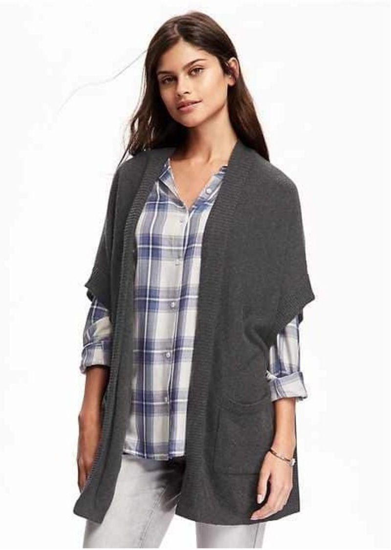 Old Navy Open-Front Drapey Poncho for Women