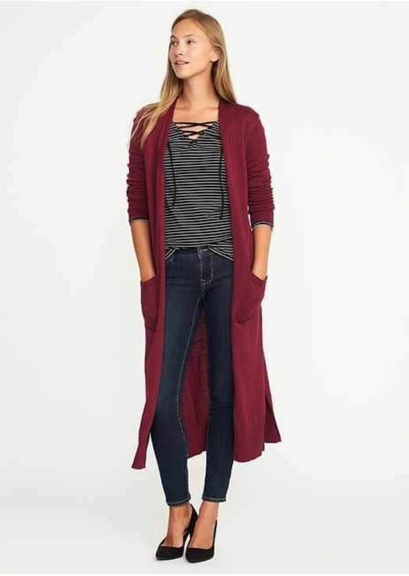 Old Navy Open-Front Extra-Long Sweater for Women | Sweaters - Shop ...