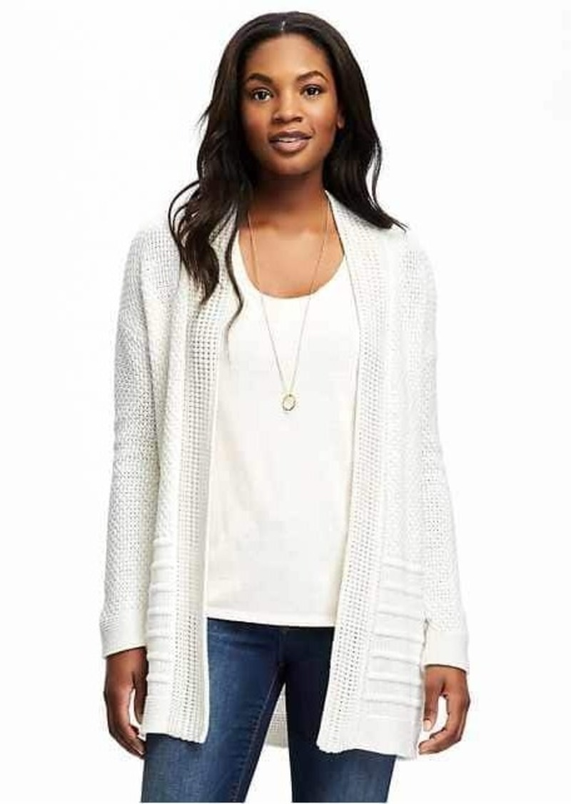 Old Navy Open-Front Textured Cardi for Women | Sweaters - Shop It ...