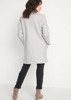 Old Navy Oversized Soft-Brushed Funnel-Neck Patch-Pocket Coat for Women