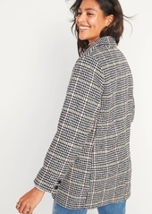 Old Navy Oversized Soft-Brushed Patterned Blazer Jacket for Women