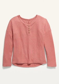 Old Navy Oversized Thermal Henley for Girls